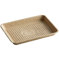 EcoChoice 8 inch x 6 inch Molded Fiber / Pulp Rectangular Tray - 100/Pack