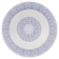 Villeroy & Boch 16-4057-2701 Algo 11 1/2 inch Blue Premium Porcelain Rim Soup Plate - 6/Case