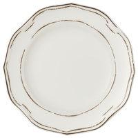 Villeroy & Boch 16-4059-2640 La Scala Patina 8 1/4 inch White Premium Porcelain Flat Coupe Plate - 6/Case