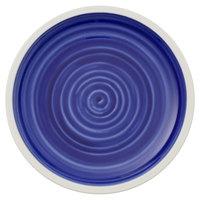 Villeroy & Boch 16-4067-2660 Artesano Ocean 6 1/4 inch Atlantic Blue Premium Porcelain Coupe Bread & Butter Plate - 6/Case