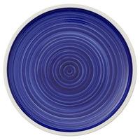 Villeroy & Boch 16-4067-2631 Artesano Ocean 13 1/2 inch Atlantic Blue Premium Porcelain Flat Coupe Plate - 6/Case
