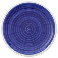 Villeroy & Boch 16-4067-2640 Artesano Ocean 8 3/4 inch Atlantic Blue Premium Porcelain Flat Coupe Plate - 6/Case