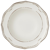 Villeroy & Boch 16-4059-2700 La Scala Patina 9 1/2 inch White Premium Porcelain Deep Plate - 6/Case