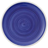 Villeroy & Boch 16-4067-2621 Artesano Ocean 10 3/4 inch Atlantic Blue Premium Porcelain Flat Coupe Dinner Plate - 6/Case