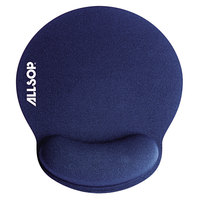 Allsop 30206 MousePad Pro 9 inch x 10 inch x 1 inch Blue Memory Foam Mouse Pad with Wrist Rest