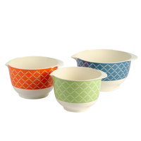 Tablecraft HMB3M Farmhouse 1.5-2.5 Qt. 3-Piece Melamine Mixing Bowl Set