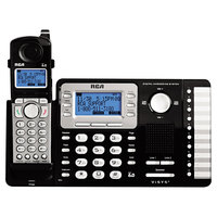 RCA 25252 ViSYS 2 Line Black / Silver Cordless Expandable Phone / Answering System with Handset