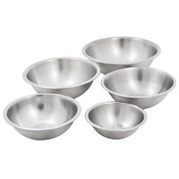 Heavyweight Stainless Steel 5-Piece Mixing Bowl Set