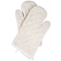 Choice 15 inch Terry Oven Mitts - 2/Pack