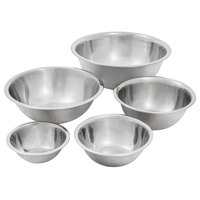 Standard Weight Stainless Steel 5-Piece Mixing Bowl Set