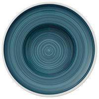 Villeroy & Boch 16-4068-2790 Artesano Ocean 11 3/4 inch Pacific Green Premium Porcelain Deep Plate - 4/Case