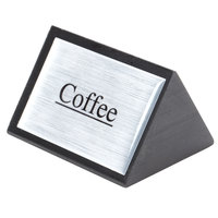 American Metalcraft SIGNC3 3 inch x 2 1/2 inch Black Wood Coffee Sign