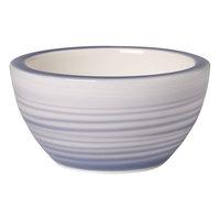 Villeroy & Boch 10-4858-3932 Artesano Nature 3 1/4 inch Bleu Premium Porcelain Dip Bowl - 6/Case