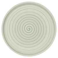 Villeroy & Boch 10-4860-2590 Artesano Nature 12 1/2 inch Vert Premium Porcelain Buffet / Pizza Plate