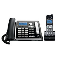 RCA 25255RE2 ViSYS 2 Line Black / Silver Corded / Cordless Phone / Answering System