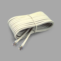 Softalk 04020 25' Ivory Phone Extension Cord