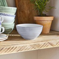 Villeroy & Boch 10-4858-1900 Artesano Nature 20.25 oz. Bleu Premium Porcelain Rice Bowl - 4/Case