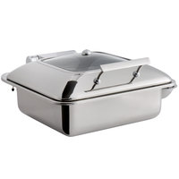 Choice Supreme 5 Qt. 2/3 Size Stainless Steel Induction Chafer with Glass Top and Soft-Close Lid