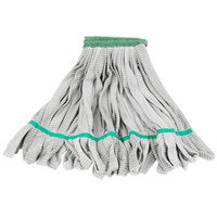 Unger ST38O SmartColor RoughMop ST38 Series 13 oz. Green Microfiber String Mop Head with 26 Strands