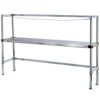 Metro 2KR346MC Four Keg Rack with One Dunnage Rack - 42 inch x 18 inch x 64 1/8 inch