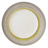 Villeroy & Boch 16-4038-2796 Amarah 11 1/4 inch Reed Premium Porcelain Flat Coupe Plate with 7 inch Well - 6/Case