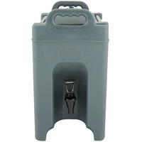 Carlisle XT250059 2.5 Gallon Slate Blue Insulated Beverage Dispenser