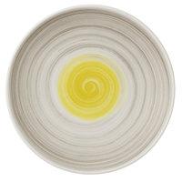 Villeroy & Boch 16-4037-2661 Amarah 6 1/4 inch Date Flower Premium Porcelain Flat Coupe Plate - 6/Case