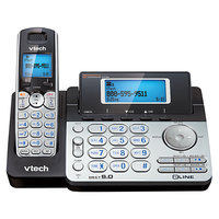 Vtech DS6151 Black / Silver 2 Line Cordless Answering System