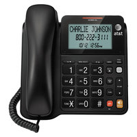 AT&T CL2940 Black 1 Line Corded Phone with Extra Large Display and Buttons