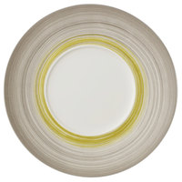 Villeroy & Boch 16-4038-2795 Amarah 11 1/4 inch Reed Premium Porcelain Flat Coupe Plate with 5 1/2 inch Well - 6/Case