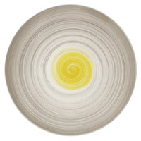 Villeroy & Boch 16-4037-2595 Amarah 12 1/2 inch Date Flower Premium Porcelain Flat Coupe Plate - 6/Case