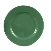CAC CDE-21GRE Festiware Wide Rim Dinner Plate with Cord Edge 12 inch - Green - 12 / Case
