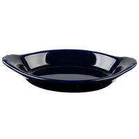 Hall China 30528105 Cobalt Blue 12 oz. Colorations Oval Rarebit / Au Gratin Dish   - 24/Case