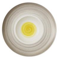 Villeroy & Boch 16-4037-2700 Amarah 11 1/4 inch Date Flower Premium Porcelain Deep Plate - 6/Case