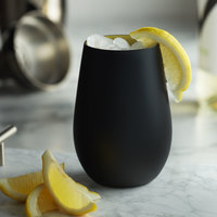 Stolzle 3520012T/2492 Glisten 16.5 oz. Matte Black/Gold Stemless Wine Glass / Tumbler - 6/Case
