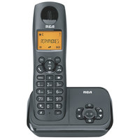 RCA 21621BKGA 1 Line Cordless Phone System with Answering Machine and DECT 6.0 Technology