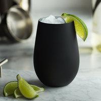 Stolzle 3520012T/2493 Glisten 16.5 oz. Matte Black/Silver Stemless Wine Glass / Tumbler - 6/Case