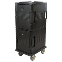Cambro UPC800110 Black Camcart Ultra Pan Carrier - Front Load