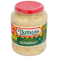 Nathan's Famous 32 oz. New York Fresh Cut Sauerkraut - 12/Case