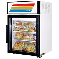 True GDM-5-LD White Countertop Display Refrigerator with Swing Door