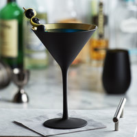 Stolzle 1400025T/2492 8.5 oz. Glisten Matte Black / Gold Martini Glass - 6/Case
