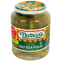 Nathan's Famous 32 oz. New York Half Sour Pickles - 12/Case