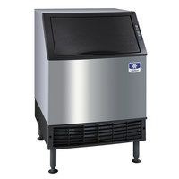 Manitowoc UDF0240A NEO 26 inch Air Cooled Undercounter Dice Cube Ice Machine with 90 lb. Bin - 208V, 215 lb.