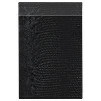 H. Risch Inc. MMB-BIS-LBK Bistro Lizard 5 1/2 inch x 8 1/2 inch Black Single View Hardback Magnetic Menu Board