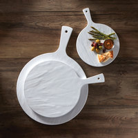 American Metalcraft FSRW11 12 inch Round White Faux Slate Serving Peel
