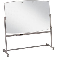 Quartet 3640TE 72 inch x 48 inch Neutral Frame Large Mobile Reversible Whiteboard Presentation Easel