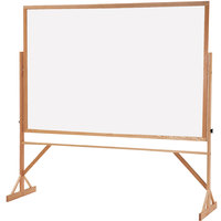 Quartet WPR406402 72 inch x 48 inch Reversible Porcelain Whiteboard Easel with Hardwood Frame