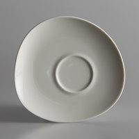 Schonwald 9386918 WellCome 6 1/8 inch Cream Porcelain Organic Saucer - 12/Case