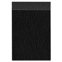 H. Risch Inc. MMB-BIS-GBK Bistro Glean 5 1/2 inch x 8 1/2 inch Black Single View Hardback Magnetic Menu Board