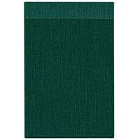 H. Risch Inc. MMB-BIS-GR Bistro Linen 8 1/2 inch x 14 inch Green Single View Hardback Magnetic Menu Board